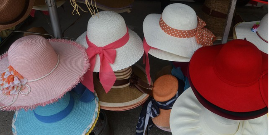 Wide brimmed hats in all colors