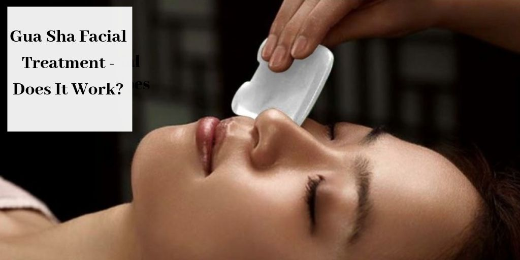 Gua Sha on woman's face