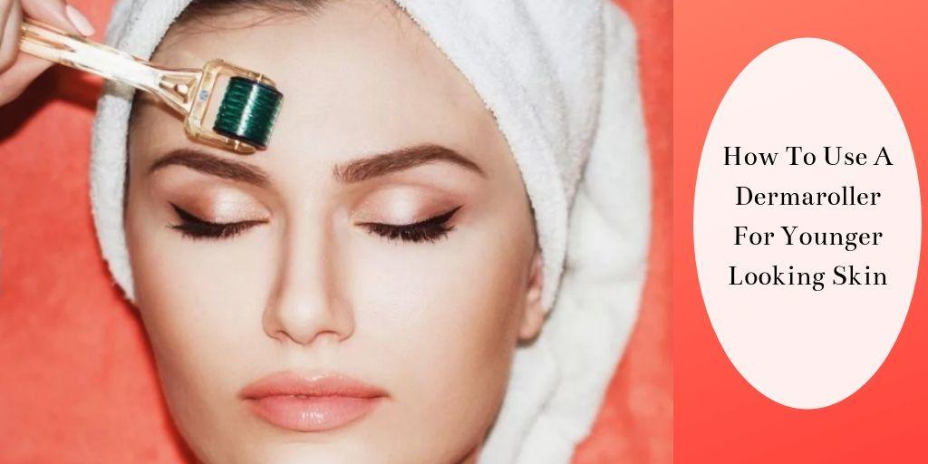 How To Use A Dermaroller - Woman Dermarolling Forehead