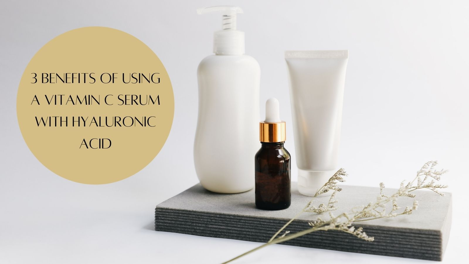 Vitamin C Serum With Hyaluronic Acid - Skincare Bottle
