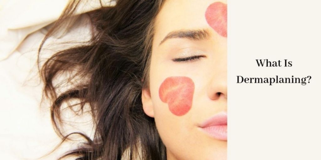 Dermaplaning Facial Treatment - Woman With Lipstick Kisses On Face