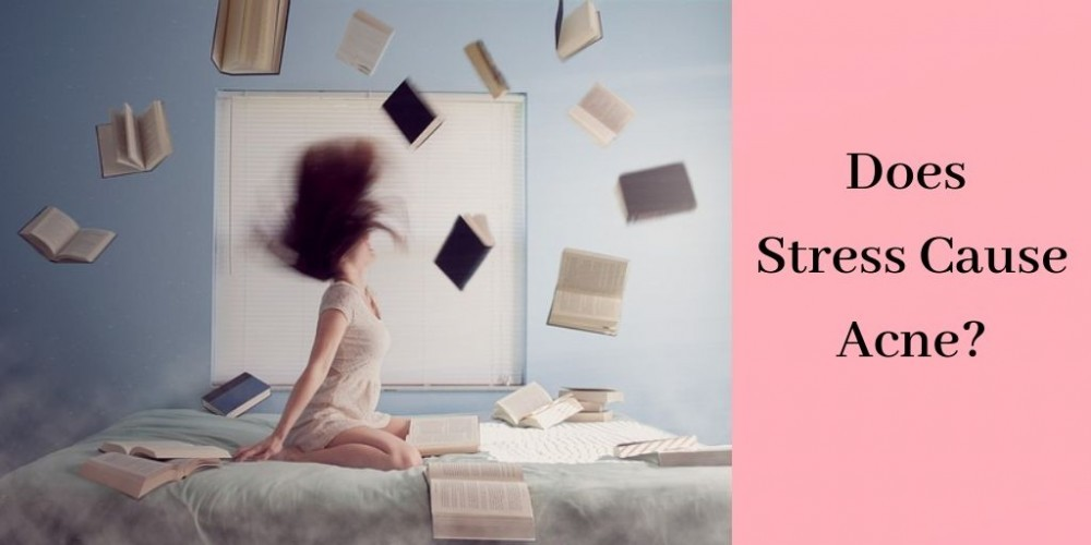 Stress and Acne - Girl Throwing Books on Bed