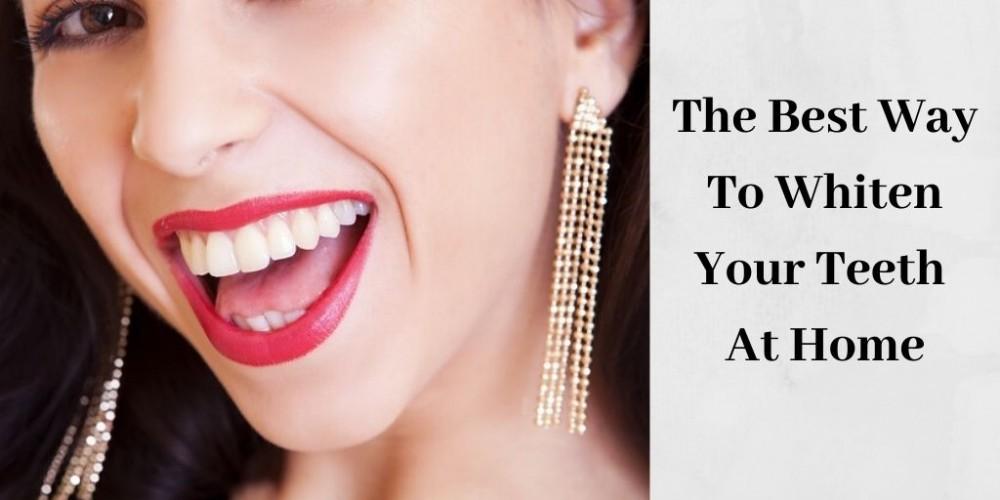 woman with beautiful white teeth